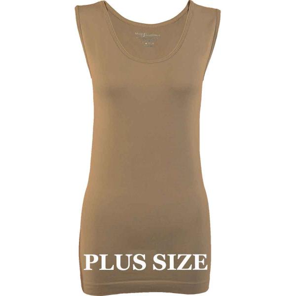 Magic SmoothWear Tanks & Sleeveless   Taupe Sleeveless Plus - Plus Size Fits (L-2X) Sleeveless