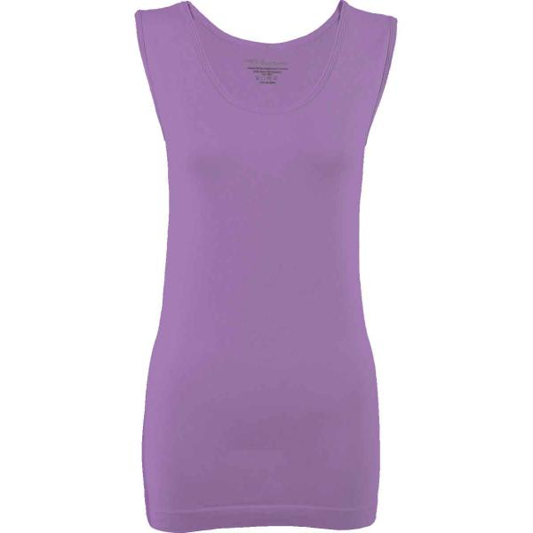 Magic SmoothWear Tanks & Sleeveless   Violet Sleeveless - One Size Fits (S-XL) Sleeveless