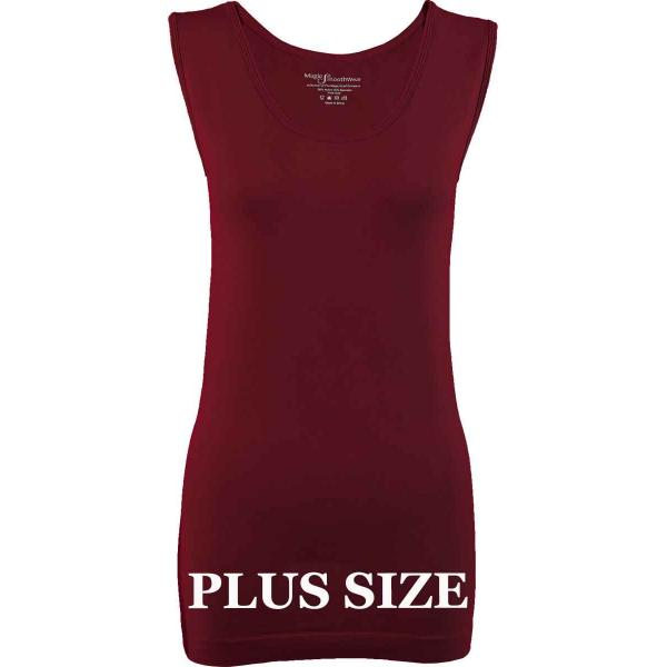 Magic SmoothWear Tanks & Sleeveless   Cabernet Sleeveless Plus - Plus Size Fits (L-2X) Sleeveless