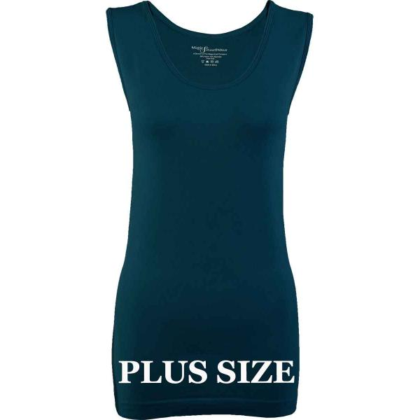 Magic SmoothWear Tanks & Sleeveless   Dark Teal Sleeveless Plus - Plus Size Fits (L-2X) Sleeveless
