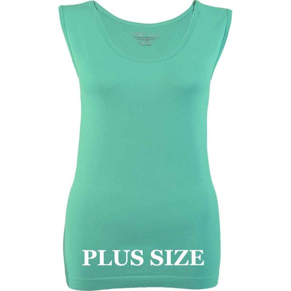 Magic SmoothWear Tanks & Sleeveless   Mint Sleeveless Plus - Plus Size Fits (L-2X) Sleeveless