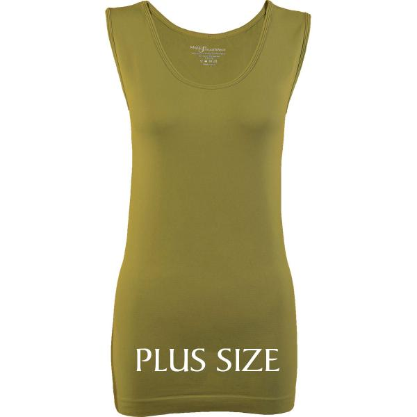 Magic SmoothWear Tanks & Sleeveless   Avocado Sleeveless Plus - Plus Size Fits (L-2X) Sleeveless