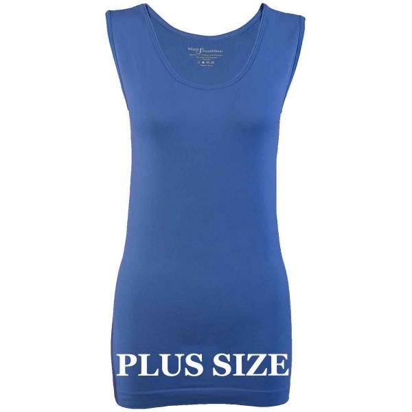 Magic SmoothWear Tanks & Sleeveless   Blue Sleeveless Plus - Plus Size Fits (L-2X) Sleeveless