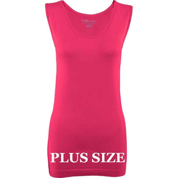 Magic SmoothWear Tanks & Sleeveless   Fuchsia Sleeveless Plus - Plus Size Fits (L-2X) Sleeveless