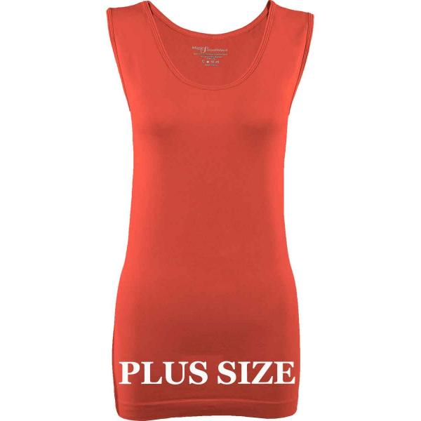 Magic SmoothWear Tanks & Sleeveless   Coral Sleeveless Plus - Plus Size Fits (L-2X) Sleeveless