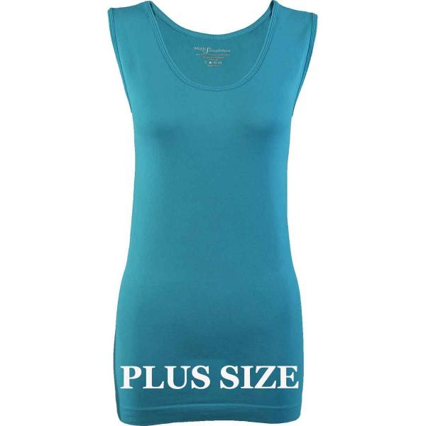 Magic SmoothWear Tanks & Sleeveless   Aqua Sleeveless Plus - Plus Size Fits (L-2X) Sleeveless
