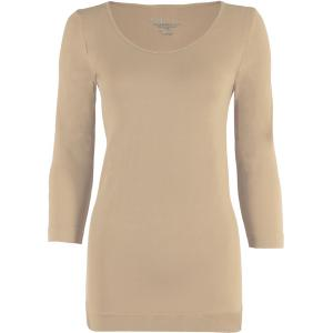 wholesale Magic SmoothWear Three Quarter & Long Sleeve Beige Three Quarter Sleeve - One Size Fits (S-XL) TQ