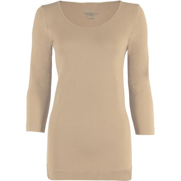 wholesale Magic SmoothWear with Sleeves Beige Three Quarter Sleeve - One Size Fits (S-XL) TQ
