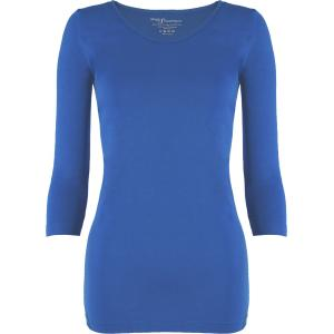 wholesale Magic SmoothWear Three Quarter & Long Sleeve Blue Three Quarter Sleeve - One Size Fits (S-XL) TQ