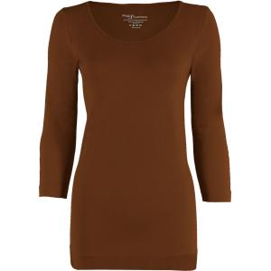wholesale Magic SmoothWear Three Quarter & Long Sleeve Chestnut Three Quarter Sleeve - One Size Fits (S-XL) TQ