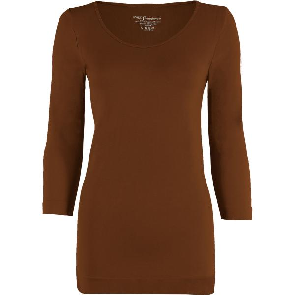 wholesale Magic SmoothWear with Sleeves Chestnut Three Quarter Sleeve - One Size Fits (S-XL) TQ