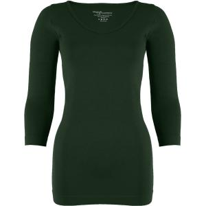 wholesale Magic SmoothWear Three Quarter & Long Sleeve Dark Hunter Green Three Quarter Sleeve - One Size Fits (S-XL) TQ