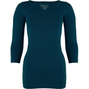 wholesale Magic SmoothWear Three Quarter & Long Sleeve Dark Teal Three Quarter Sleeve - One Size Fits (S-XL) TQ