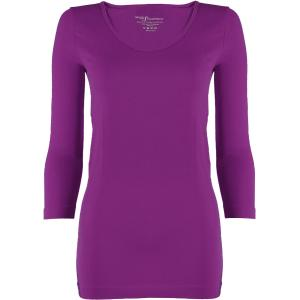 wholesale Magic SmoothWear Three Quarter & Long Sleeve Grape Three Quarter Sleeve - One Size Fits (S-XL) TQ