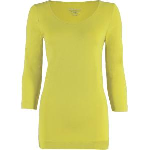 wholesale Magic SmoothWear Three Quarter & Long Sleeve Light Yellow Three Quarter Sleeve - One Size Fits (S-XL) TQ
