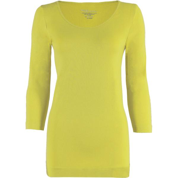 wholesale Magic SmoothWear with Sleeves Light Yellow Three Quarter Sleeve - One Size Fits (S-XL) TQ