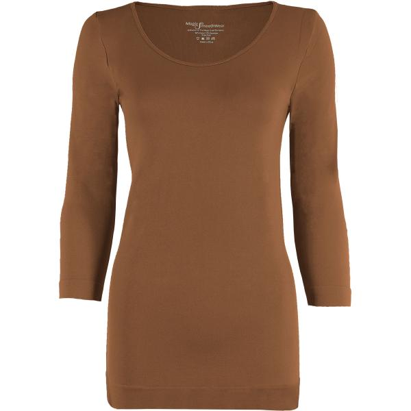 wholesale Magic SmoothWear with Sleeves Mocha Three Quarter Sleeve - One Size Fits (S-XL) TQ
