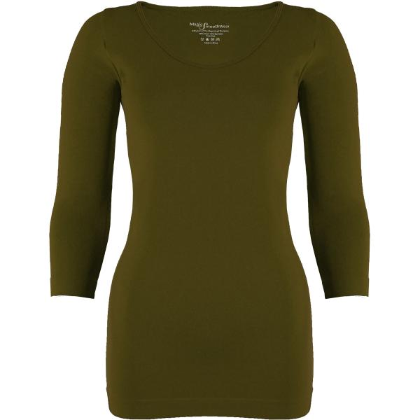wholesale Magic SmoothWear with Sleeves Olive Three Quarter Sleeve MB - One Size Fits (S-XL) TQ