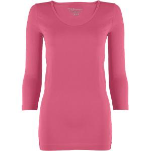 wholesale Magic SmoothWear Three Quarter & Long Sleeve Pink Three Quarter Sleeve - One Size Fits (S-XL) TQ