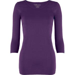 wholesale Magic SmoothWear Three Quarter & Long Sleeve Royal Purple Three Quarter Sleeve - One Size Fits (S-XL) TQ
