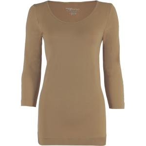 wholesale Magic SmoothWear Three Quarter & Long Sleeve Taupe Three Quarter Sleeve - One Size Fits (S-XL) TQ