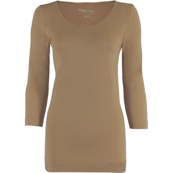 wholesale Magic SmoothWear with Sleeves Taupe Three Quarter Sleeve - One Size Fits (S-XL) TQ