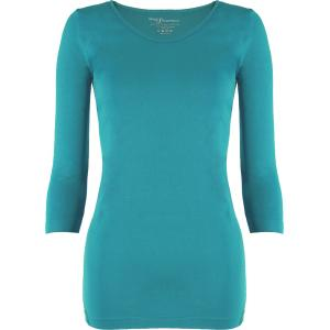 wholesale Magic SmoothWear Three Quarter & Long Sleeve Teal Green Three Quarter Sleeve - One Size Fits (S-XL) TQ