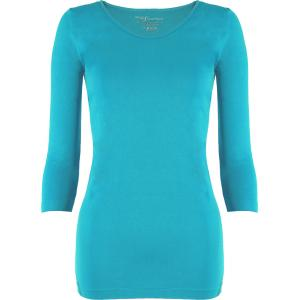wholesale Magic SmoothWear Three Quarter & Long Sleeve Turquoise Three Quarter Sleeve - One Size Fits (S-XL) TQ