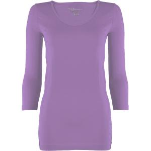 wholesale Magic SmoothWear Three Quarter & Long Sleeve Violet Three Quarter Sleeve - One Size Fits (S-XL) TQ