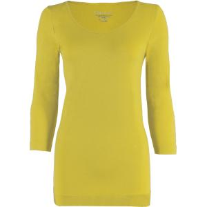 wholesale Magic SmoothWear Three Quarter & Long Sleeve Vivid Yellow Three Quarter Sleeve - One Size Fits (S-XL) TQ