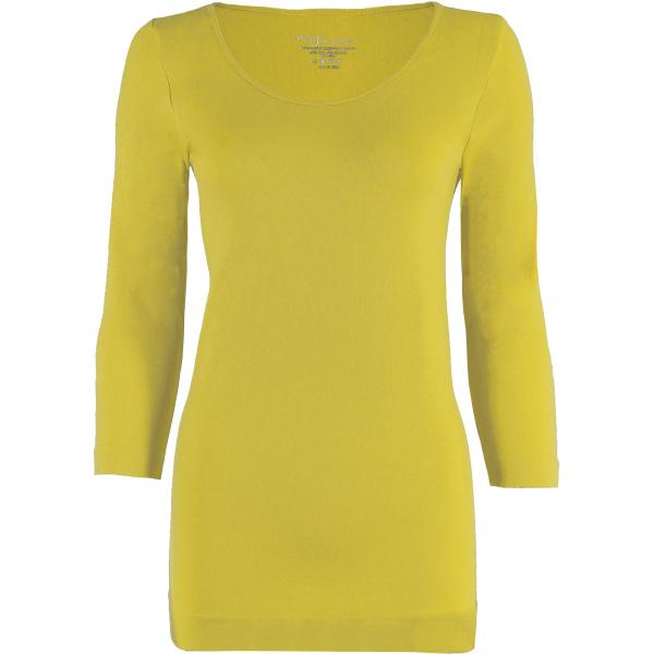 wholesale Magic SmoothWear with Sleeves Vivid Yellow Three Quarter Sleeve - One Size Fits (S-XL) TQ