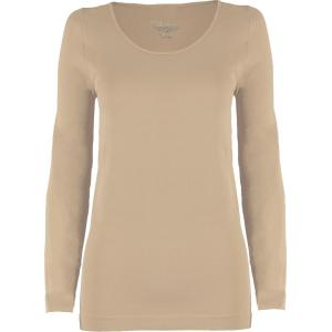 wholesale Magic SmoothWear Three Quarter & Long Sleeve Beige Long Sleeve - One Size Fits (S-XL) Long Sleeve