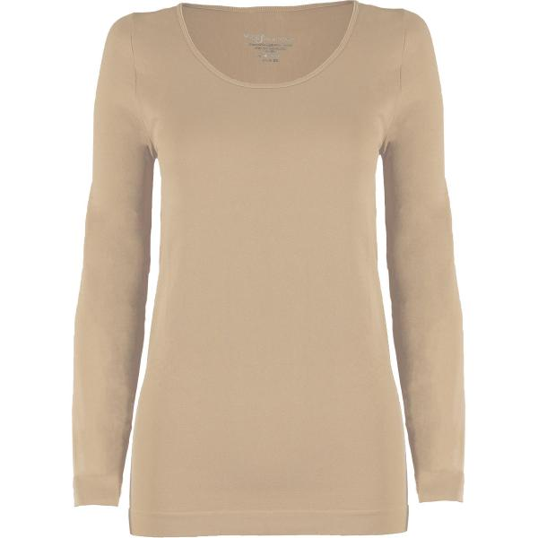 wholesale Magic SmoothWear with Sleeves Beige Long Sleeve - One Size Fits (S-XL) Long Sleeve
