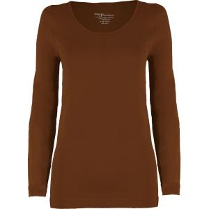wholesale Magic SmoothWear Three Quarter & Long Sleeve Chestnut Long Sleeve - One Size Fits (S-XL) Long Sleeve