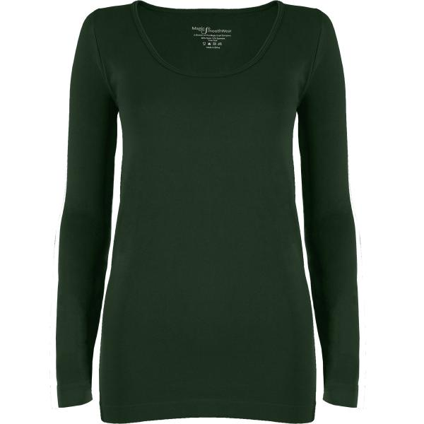 wholesale Magic SmoothWear with Sleeves Dark Hunter Green Long Sleeve - One Size Fits (S-XL) Long Sleeve
