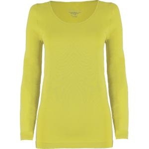 wholesale Magic SmoothWear Three Quarter & Long Sleeve Light Yellow Long Sleeve - One Size Fits (S-XL) Long Sleeve