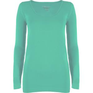 wholesale Magic SmoothWear Three Quarter & Long Sleeve Mint Long Sleeve - One Size Fits (S-XL) Long Sleeve