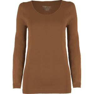 wholesale Magic SmoothWear Three Quarter & Long Sleeve Mocha Long Sleeve - One Size Fits (S-XL) Long Sleeve