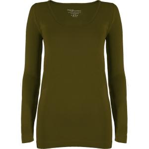 wholesale Magic SmoothWear Three Quarter & Long Sleeve Olive Long Sleeve - One Size Fits (S-XL) Long Sleeve