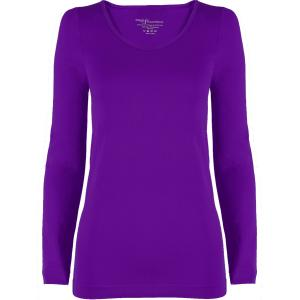 wholesale Magic SmoothWear Three Quarter & Long Sleeve Purple Long Sleeve - One Size Fits (S-XL) Long Sleeve