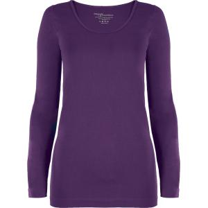 wholesale Magic SmoothWear Three Quarter & Long Sleeve Royal Purple Long Sleeve - One Size Fits (S-XL) Long Sleeve