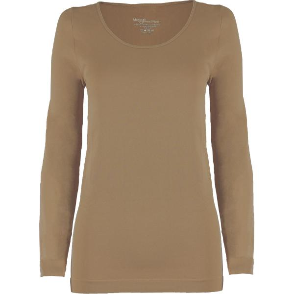wholesale Magic SmoothWear with Sleeves Taupe Long Sleeve - One Size Fits (S-XL) Long Sleeve