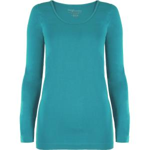 wholesale Magic SmoothWear Three Quarter & Long Sleeve Teal Green Long Sleeve - One Size Fits (S-XL) Long Sleeve