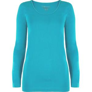 wholesale Magic SmoothWear Three Quarter & Long Sleeve Turquoise Long Sleeve - One Size Fits (S-XL) Long Sleeve