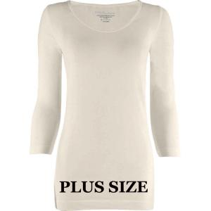 wholesale Magic SmoothWear Three Quarter & Long Sleeve Ivory Three Quarter Sleeve Plus - Plus Size Fits (L-2X) TQ