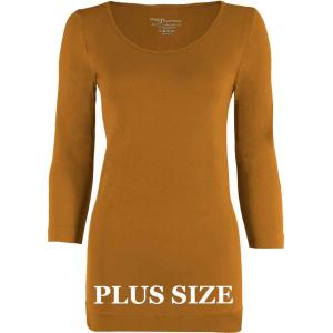 wholesale Magic SmoothWear Three Quarter & Long Sleeve Copper Three Quarter Sleeve Plus - Plus Size Fits (L-2X) TQ