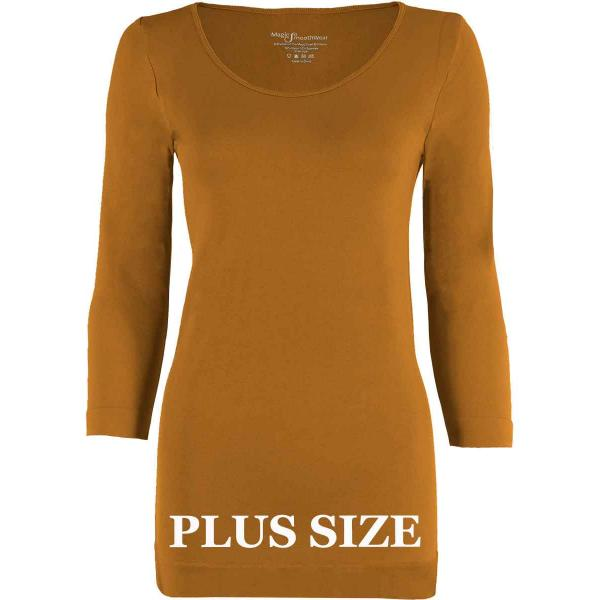 wholesale Magic SmoothWear with Sleeves Copper Three Quarter Sleeve Plus - Plus Size Fits (L-2X) TQ