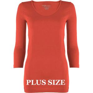 wholesale Magic SmoothWear Three Quarter & Long Sleeve Coral Three Quarter Sleeve Plus - Plus Size Fits (L-2X) TQ