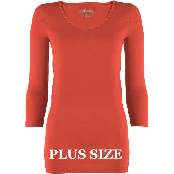 wholesale Magic SmoothWear with Sleeves Coral Three Quarter Sleeve Plus - Plus Size Fits (L-2X) TQ