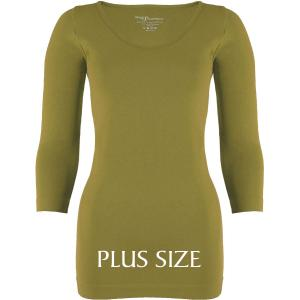 wholesale Magic SmoothWear Three Quarter & Long Sleeve Avocado Three Quarter Sleeve Plus - Plus Size Fits (L-2X) TQ